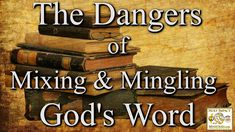 What does the Bible say about mixing and mingling God's word? How long has man been mixing and mingling God's word with the wisdom of men? What are the punishments for mixing and mingling God's word with mans word? What were the Pharisees of our Messiah's time guilty of? What is the church today guilty of? S Word, Bible, Wisdom, God, Sayings, Youtube, Biblia, Dios, Lyrics
