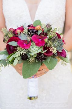 Wedding Bouquets :     Picture    Description  Dahlia, scabiosa and succulent wedding bouquet: Photography : Brooke Beasley Photography Read More on SMP: www.stylemepretty…    - #Bouquets https://weddinglande.com/accessories/bouquets/wedding-bouquets-dahlia-scabiosa-and-succulent-wedding-bouquet-photography-brooke-beasley-pho/