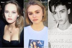 lily rose depp as a kid - Ecosia Pretty People, Beautiful People, Amazing People, Lily Depp, Couple With Baby, Lily Rose Melody Depp, Young Johnny Depp, Johny Depp, Vanessa Paradis