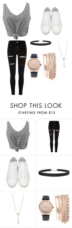 """""""Casual day"""" by sam-velie ❤ liked on Polyvore featuring WithChic, River Island, Yves Saint Laurent, Humble Chic, EF Collection and Jessica Carlyle"""