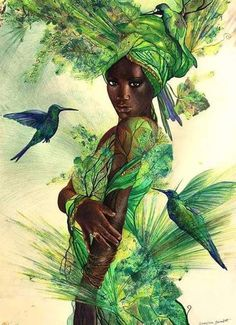 Mothers Day Drawings Discover Aja by Bernadett Bagyinka Aja: Healing patron of the forest the animals. yoruba culture/Nigeria -West -Africa by Bernadett Bagyinka Black Love Art, Black Girl Art, Arte Black, African Art Paintings, Black Art Pictures, Room Pictures, Goddess Art, Black Goddess, Oya Goddess