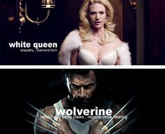 X-Men movie saga characters (Marvel comic book's superheroes  supervillains) and their main superhuman powers. Mutant and proud.