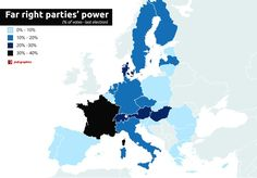 Far-right parties' power in Europe (as of March : MapPorn Europe, High Quality Images, March, Entertaining, Parties, News, Fiestas, Fiesta Party, Receptions