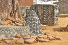 Traditional village structure, Tiébélé, West Africa, Rita Willaert