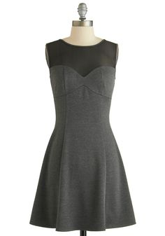 Trendsetting Ticketholder Dress. This item was picked by you in our Be the Buyer Program, altered based on your feedback, and will be sold exclusively online at ModCloth! #grey #modcloth