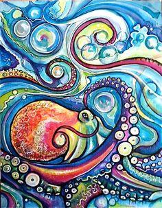 Underwater curls. by Colleen Wilcox