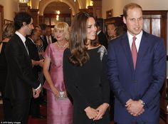 Kate and William during the state reception at Government House in Wellington