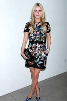 Nicky Hilton wearing Manolo Blahnik Hangisi Pumps and Edie Parker Flavia Clutch