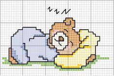 Schemi punto croce - Orsetto nanna