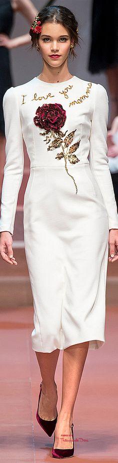 #MFW Dolce & Gabbana Fall 2015 RTW ♔THD♔                                                                                                                                                      Mais