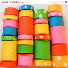 ON SALE Fun in the Sun Ribbon Wholesale Lot by HairbowSuppliesEtc, $7.65