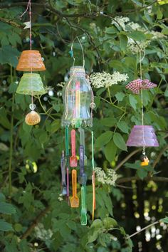 Windspiele rund ums Eis / Windchimes made of icecream accessories / Upcycling