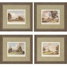 Scenes by Kearsly 4 Piece Framed Painting Print Set