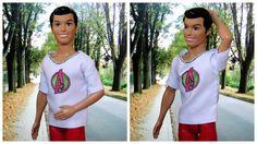 Como Fazer Camiseta Básica para o Ken (Barbie Doll)