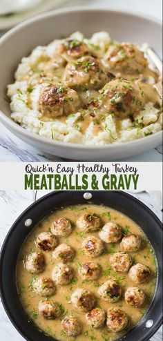 Super soft melt-in-mouth texture of these ground turkey meatballs along with a creamy delicious gravy makes it into a satisfying meal. You can also label them as Thanksgiving turkey meatballs and include them in the upcoming holiday party menu. Healthy Turkey Recipes, Healthy Ground Turkey, Easy Ground Turkey Recipes, Ground Meat, Chicken Recipes, Ground Turkey Recipe For Kids, Recipes With Ground Turkey, Ground Turkey Meatballs, Turkey Meatballs Crockpot