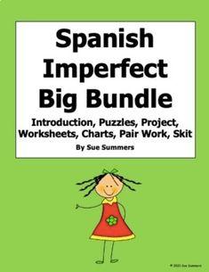 Spanish Imperfect Big Bundle of Games, Worksheets, Puzzles, Pair Work, Speaking
