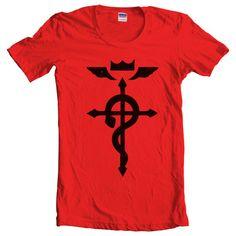 7dd2663a345 Fullmetal Alchemist state Alchemist symbol Manga Anime Women Tshirt by  geekspride on Etsy Anime Outfits