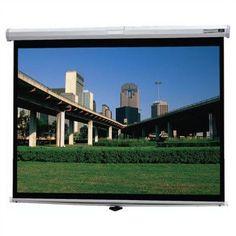 Da-Lite Deluxe Model B Matte White Manual Projection Screen Viewing Area: