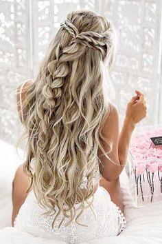 70 Creative Half Up Half Down Wedding Hairstyles 5