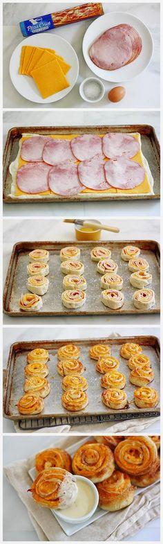Ham and Cheese Pretzel Bites - cookclouds