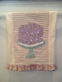 cake applique tea towel !!!!!! Love it!!! Need one!!!!