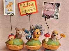 Needle Felted Animals, Felt Animals, Wet Felting, Needle Felting, Walnut Shell Crafts, Diy And Crafts, Crafts For Kids, Tiny Dolls, Tiny Treasures