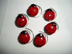 Darling Ladybug Hair Swirls Set of 6 by hairswirls1 on Etsy, $8.99