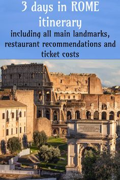 3 days in Rome itinerary with places to see and eat | How to spend 3 days in Rome #rome #italy