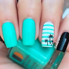20 Tropical Nail Designs for the Summer This summer channel your inner tropical goddess with these tropical nail designs. Everything from palm trees to colorful hues!
