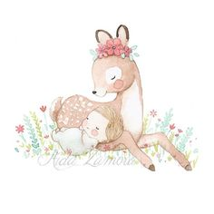 I absolutely love this baby - outfit and all. Would just like him to be sitting up :) Baby Animal Drawings, Cartoon Drawings, Cute Drawings, Hirsch Illustration, Deer Illustration, Dibujos Baby Shower, Scrapbook Patterns, Barbie Paper Dolls, Baby Deer