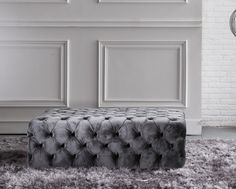 Dimple is a contemporary footstool that is so called as it is designed with buttoned dimples.  Although it is shown in our Nola-78A fabric it is available in a choice of our other fabrics or leathers.