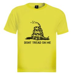 Don't Tread on Me T-Shirt Brand new 100% cotton standard weight t-shirt as shown in the picture. Express yourself through our t-shirts and make a statement. Add this item to your shopping cart by choosing the size and color you like. - See more at: http://www.greenturtle.com/Army/Army/Dont-Tread-on-Me-T-Shirt-7457/#sthash.d3wZZ1Pf.dpuf