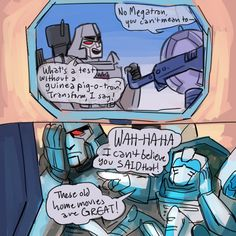 """"""" got a request for megatron watching cartoons with tailgate so of COURSE I went with g1 """""""