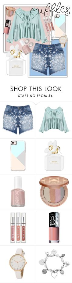 """Pastel godes"" by annahag ❤ liked on Polyvore featuring Mat, Casetify, Marc Jacobs, Essie, tarte, Maybelline, ChloBo and Kenneth Jay Lane"