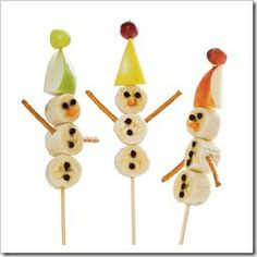 Edible snowmen