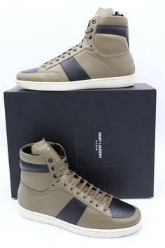 f95b1b29227e NIB Saint Laurent Mens Signature Court Classic SL 10H High Top Sneakers 13  46  YvesSaintLaurent  FashionSneakers