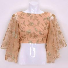 bell sleeves blouse indian Source by StyleDDresswidMe indian Indian Blouse Designs, Saree Jacket Designs, Fancy Blouse Designs, Bridal Blouse Designs, Kurta Designs, Sleeves Designs For Dresses, Stylish Blouse Design, Designer Blouse Patterns, Kurti Designs Party Wear