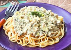 The smoky richness of tinapang is the star of this creamy pasta.