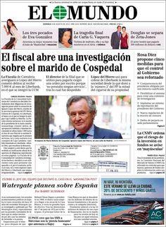 Los Titulares y Portadas de Noticias Destacadas Españolas del 4 de Agosto de 2013 del Diario El Mundo ¿Que le pareció esta Portada de este Diario Español?