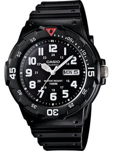 Casio MRW200H-1BV Men's Black Resin Strap 100M Sports Easy Reader Analog Watch