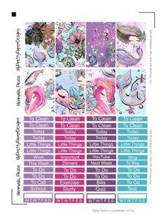Mermaids, Please – Happy Planner Sticker Kit