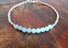 hill tribe silver and amazonite beaded by earthwatersol on Etsy, $42.00