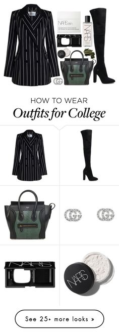 """""""Untitled #320"""" by zada on Polyvore featuring NARS Cosmetics, Gucci, Zimmermann, Gianvito Rossi, CÉLINE and Bobbi Brown Cosmetics"""