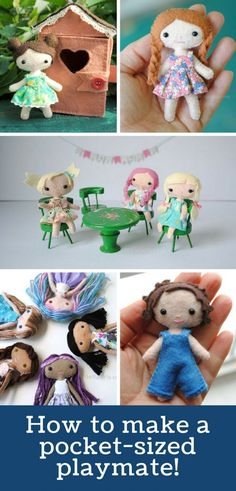 These Adorable DIY Mini Felt Dolls Will Become Favourite Playmates! - Soft Toys - It doesn& get more adorable than these miniature felt dolls! The pattern and tutorial is easy - Sewing Hacks, Sewing Crafts, Sewing Tips, Sewing Tutorials, Leftover Fabric, Felt Diy, Sewing Projects For Beginners, Craft Projects, Love Sewing