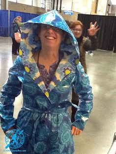 Laura Mendoza -- one of Expo's home town girls...GREAT raincoat