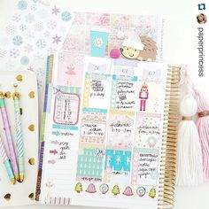 """In love with @paperprincess's spread with my """"A Sugar Plum Christmas"""" Nutcracker themed set  It's just gorgeous & I love her style so much!! Also I was actually going to use this set for my birthday this week!  #TheStickyStation #PaperPrincess by thestickystation"""