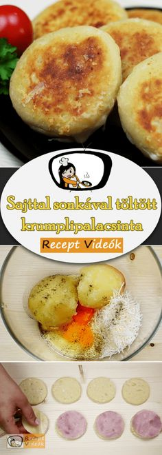 Cheese Potatoes, Potato Pancakes, Best Side Dishes, Most Popular Recipes, Ham Recipes, Ham And Cheese, Food Videos, Brunch, Easy Meals