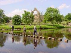 Stepping Stones at the Priory...Yorkshire Dales