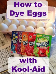 Looking for an economical, fun, and safe way to dye eggs with students or children? Try using Kool-Aid!  Here's how - https://oblockbooksblog.wordpress.com/2015/03/31/coloring-easter-eggs-with-kool-aid/
