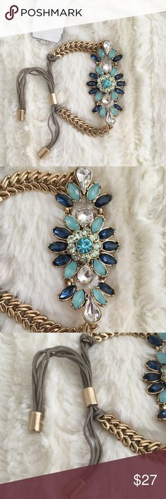 NWT Bella Jeweled Adjustable Bracelet Beautiful Bella Bracelet with shades of blue and green stones. So pretty! Excellent Condition, new with tags Nordstrom Jewelry Bracelets